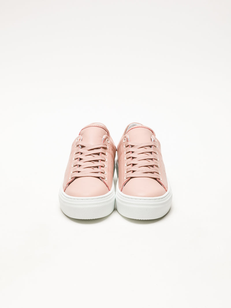 LightPink Lace-up Sneakers
