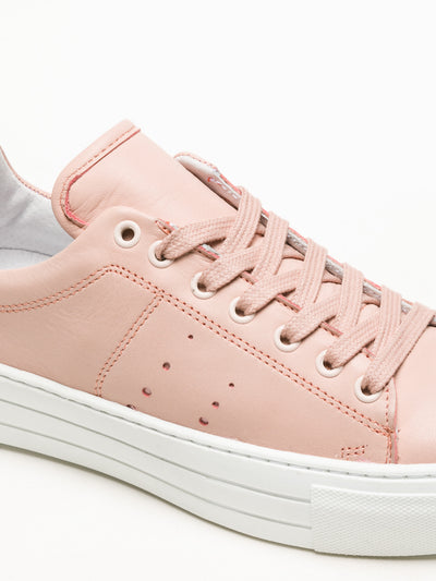 Bos&Co LightPink Lace-up Sneakers