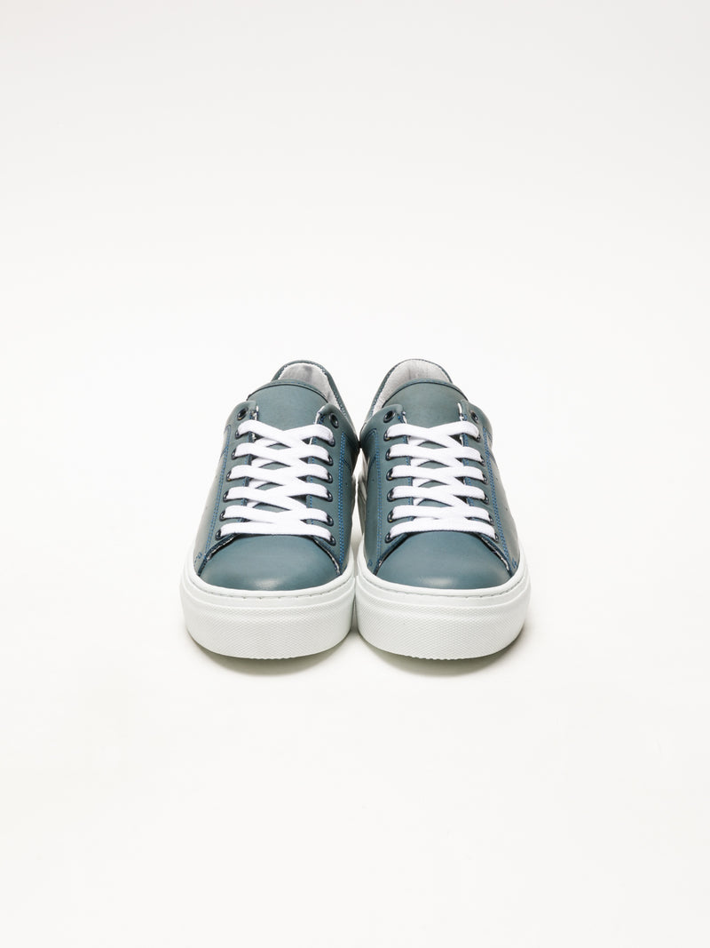 Bos&Co Blue Lace-up Sneakers
