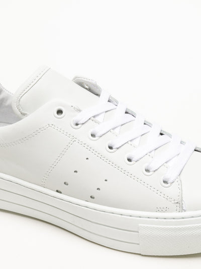 Bos&Co White Lace-up Sneakers