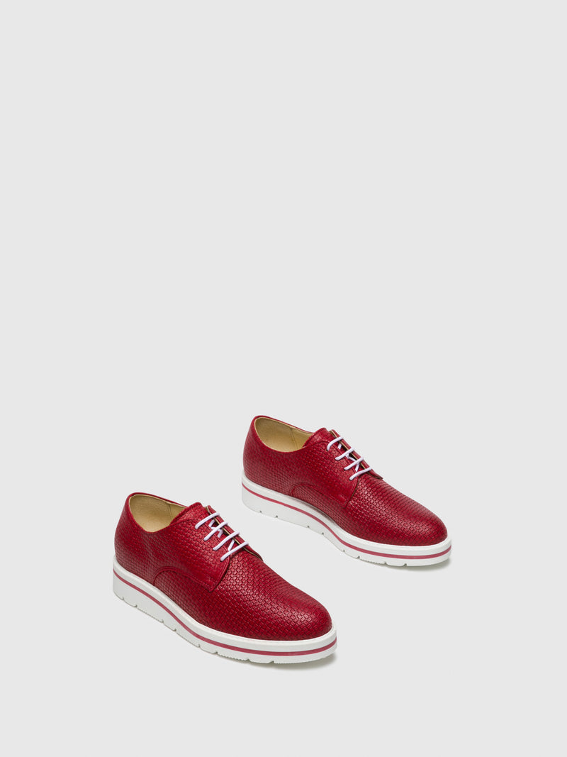 Red Lace-up Shoes