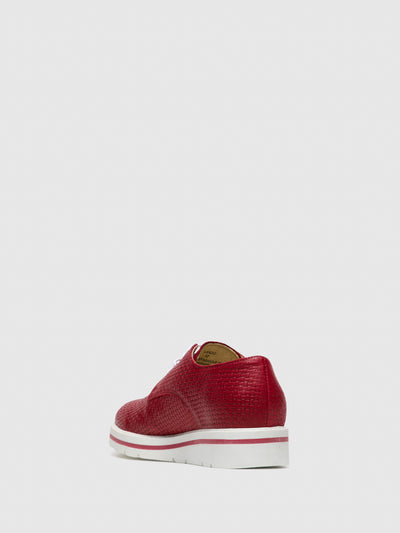 Bos&Co Red Lace-up Shoes