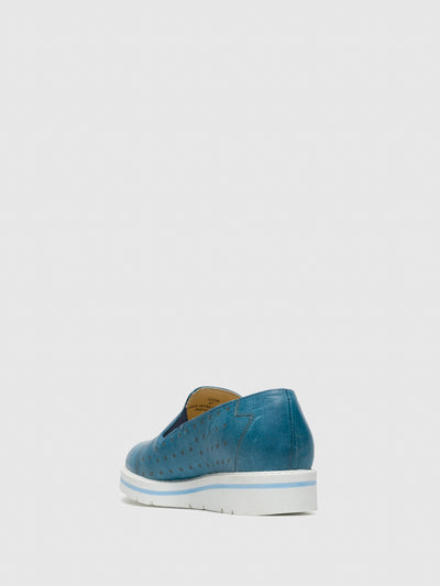 Bos&Co Blue Slip-on Sneakers