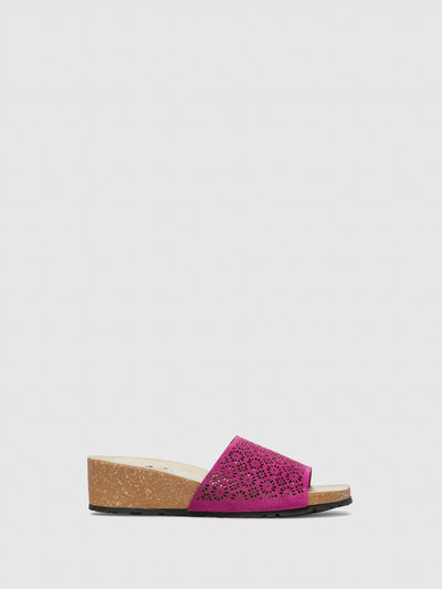 Bos&Co Pink Round Toe Sandals