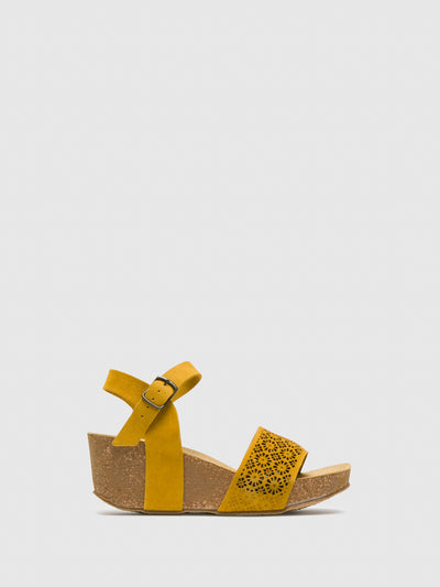Bos&Co Yellow Buckle Sandals
