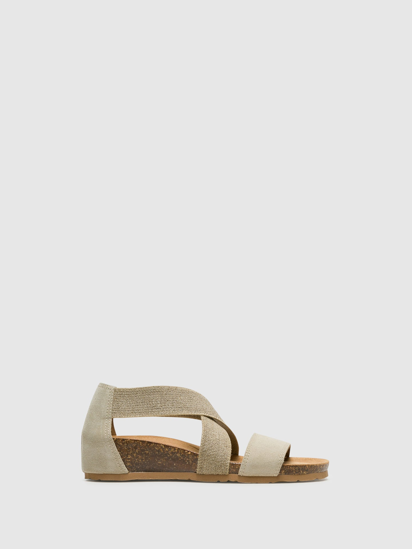 Bos&Co Beige Ankle Strap Sandals