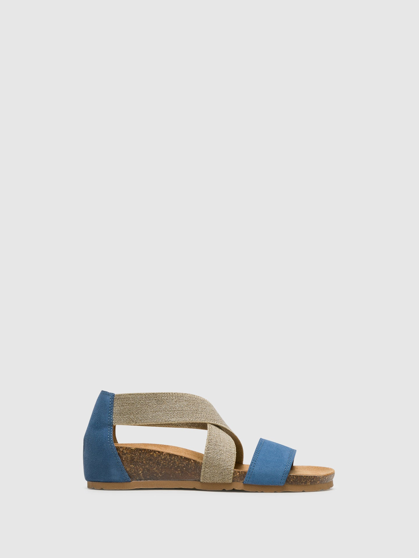 Bos&Co Blue Ankle Strap Sandals