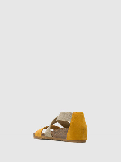 Bos&Co Yellow Ankle Strap Sandals