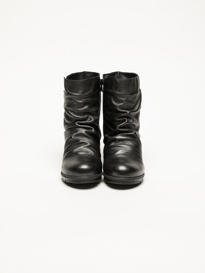Bos&Co DarkGray Zip Up Ankle Boots