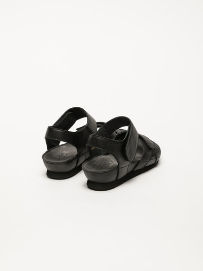 Bos&Co Black Velcro Sandals