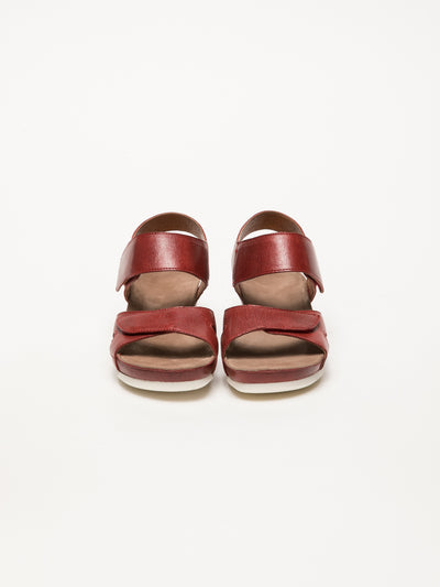 Bos&Co DarkRed Velcro Sandals