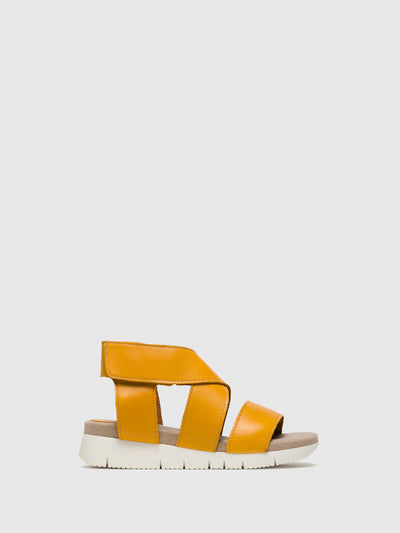 Bos&Co Yellow Strappy Sandals