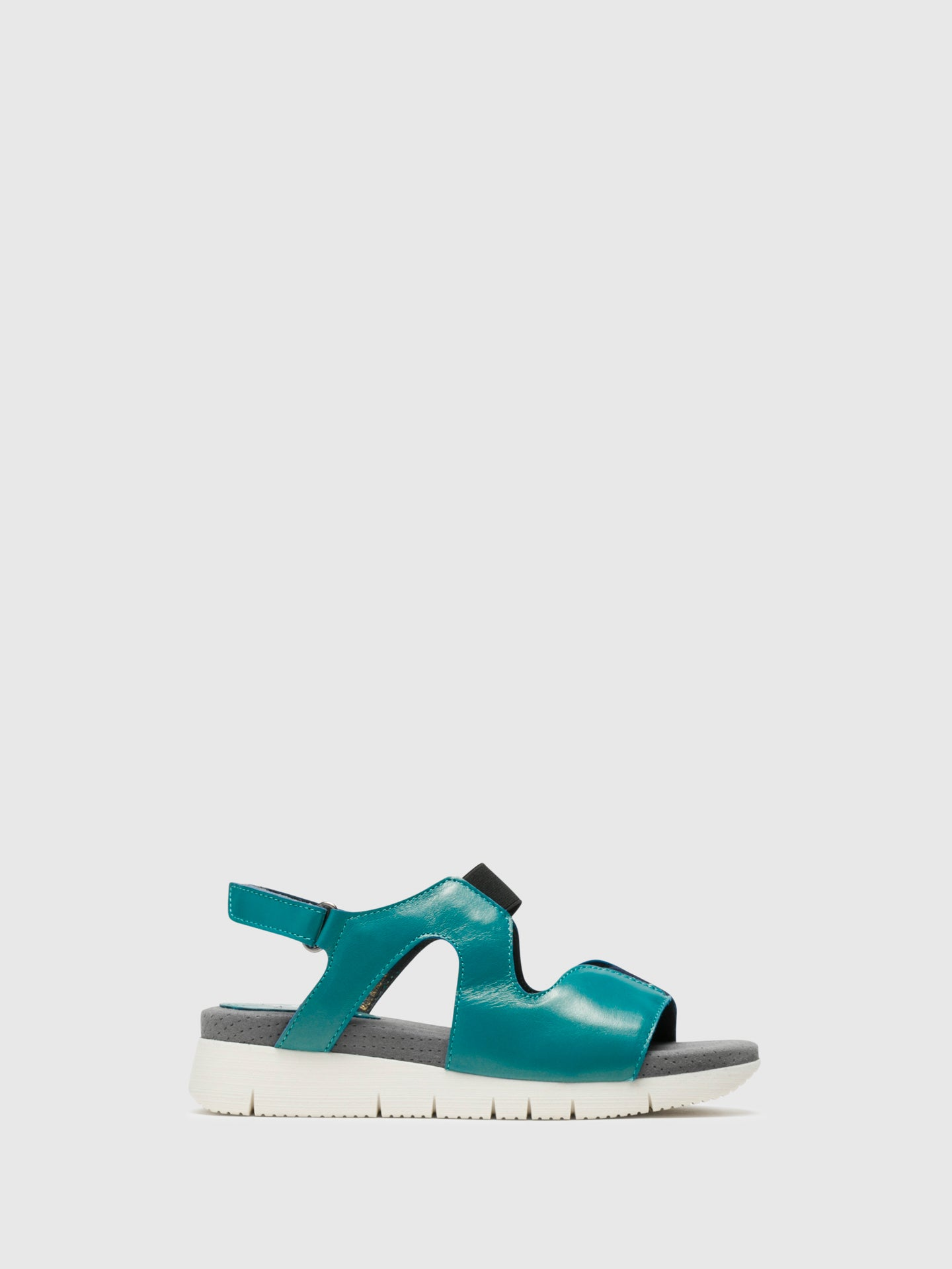 Bos&Co Blue Velcro Sandals