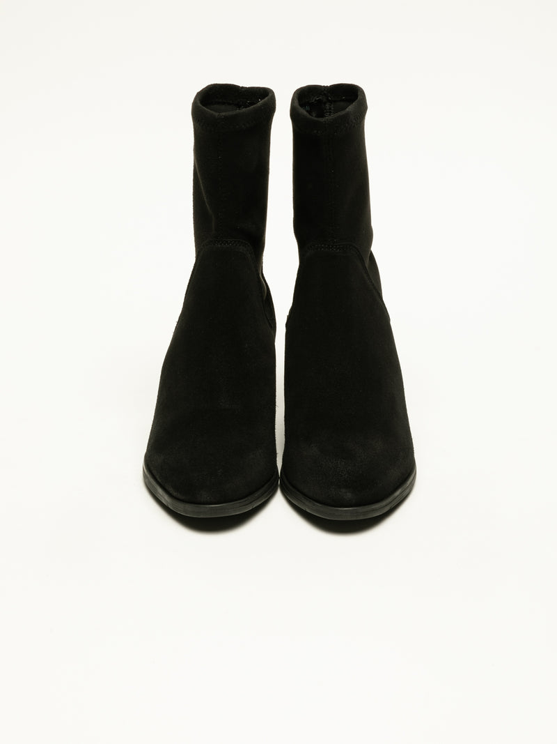 Bos&Co Black Sock Ankle Boots