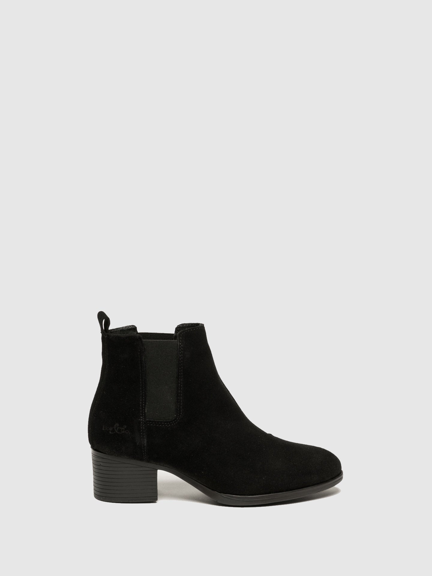 Bos&Co Black Chelsea Ankle Boots