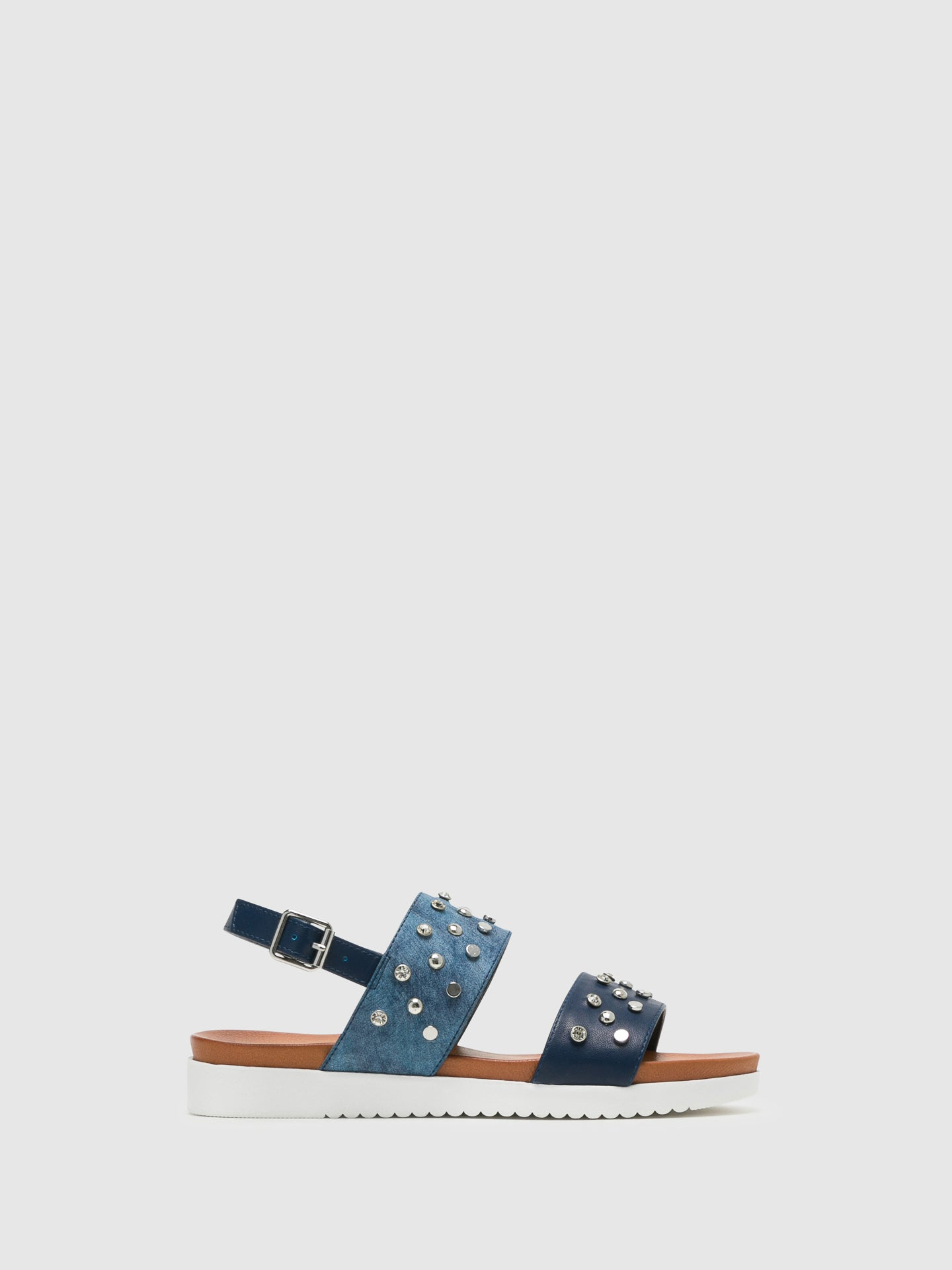 Bos&Co Blue Buckle Sandals