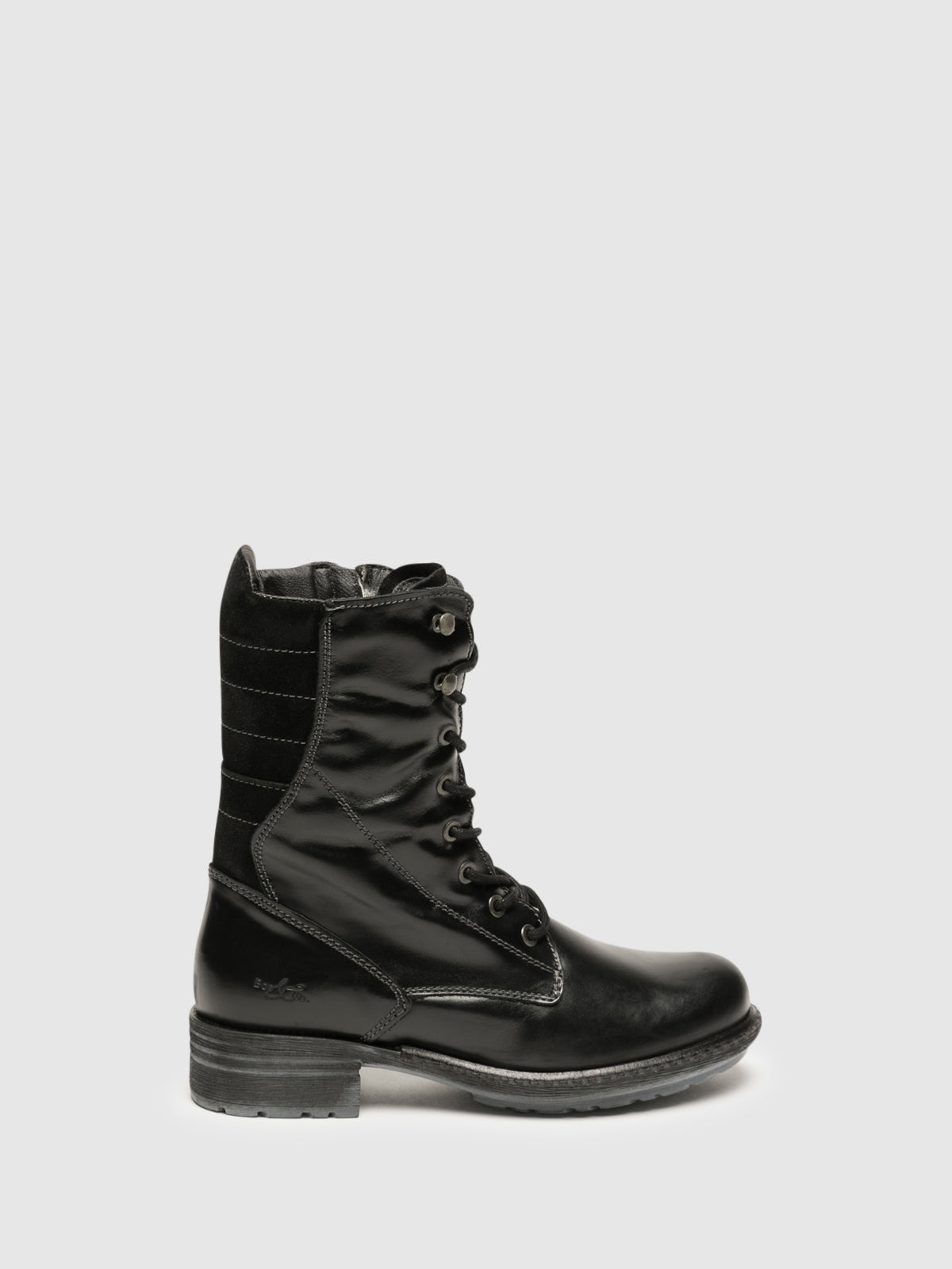 Bos&Co Black Lace-up Ankle Boots