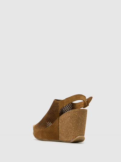 Bos&Co Brown Wedge Sandals