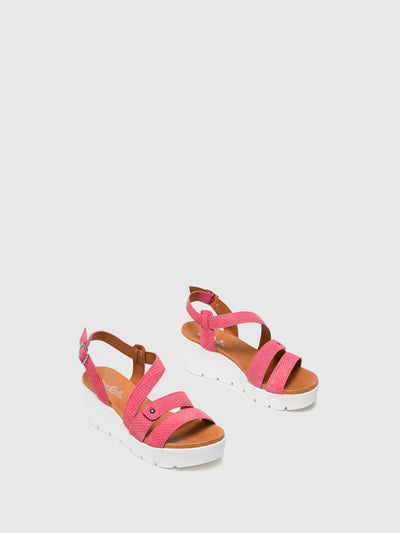 Bos&Co Pink Buckle Sandals