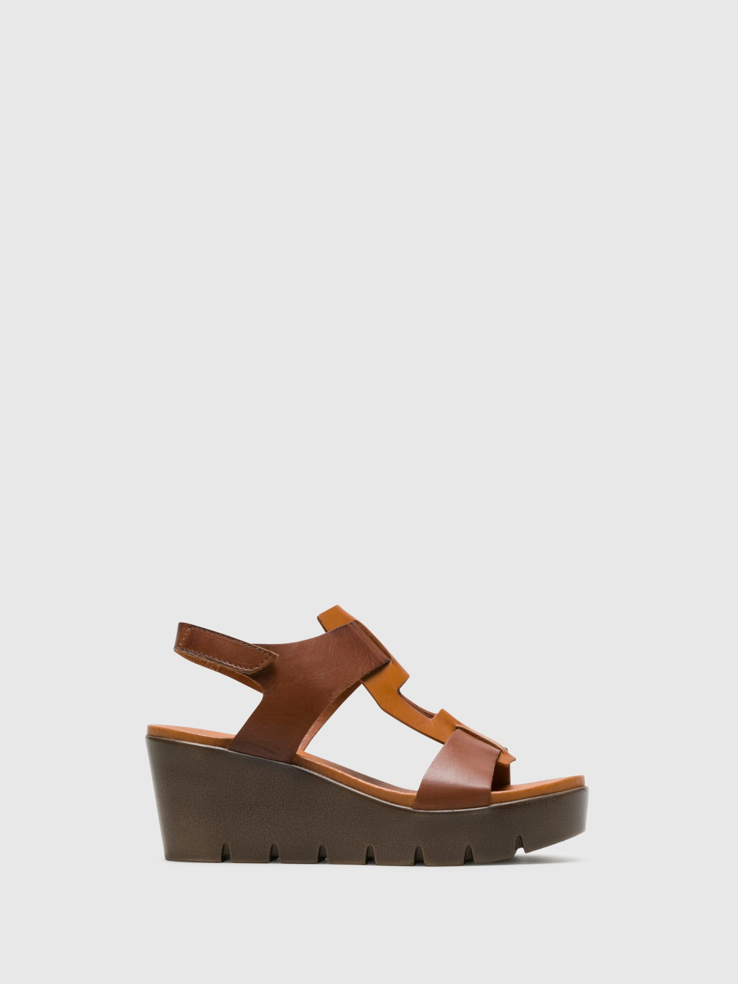 Bos&Co Brown T-Strap Sandals