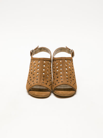 Bos&Co Brown Buckle Sandals