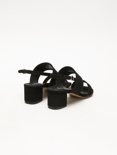 Bos&Co Black Wrap Sandals