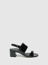 Bos&Co Coal Black Wrap Sandals