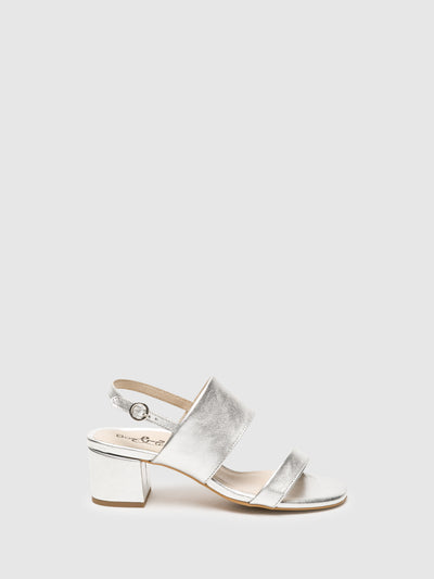 Bos&Co Silver Wrap Sandals