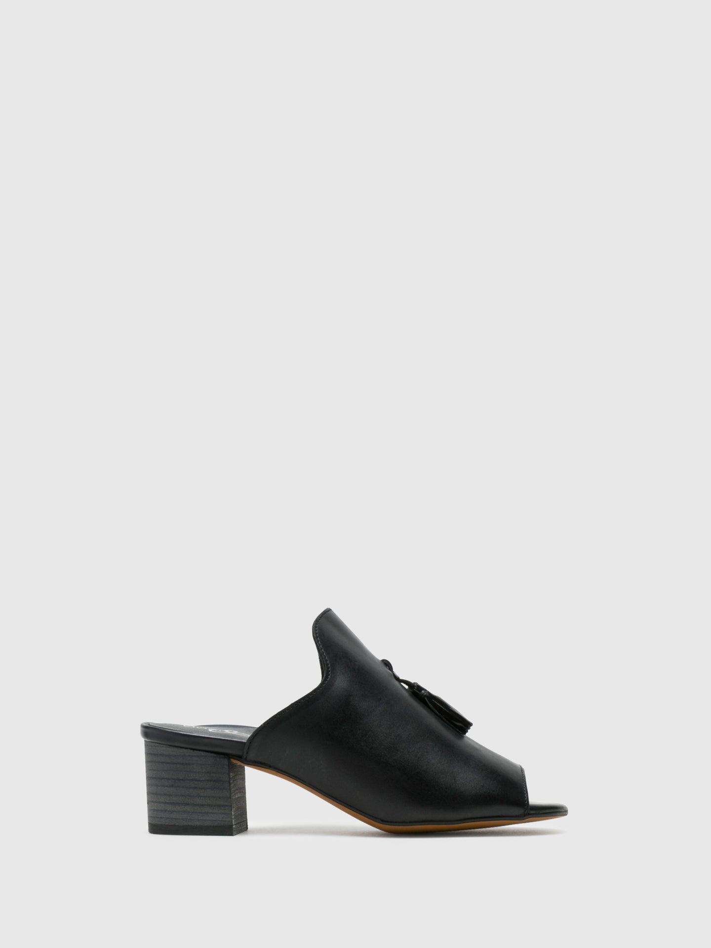 Bos&Co Black Appliqués Mules