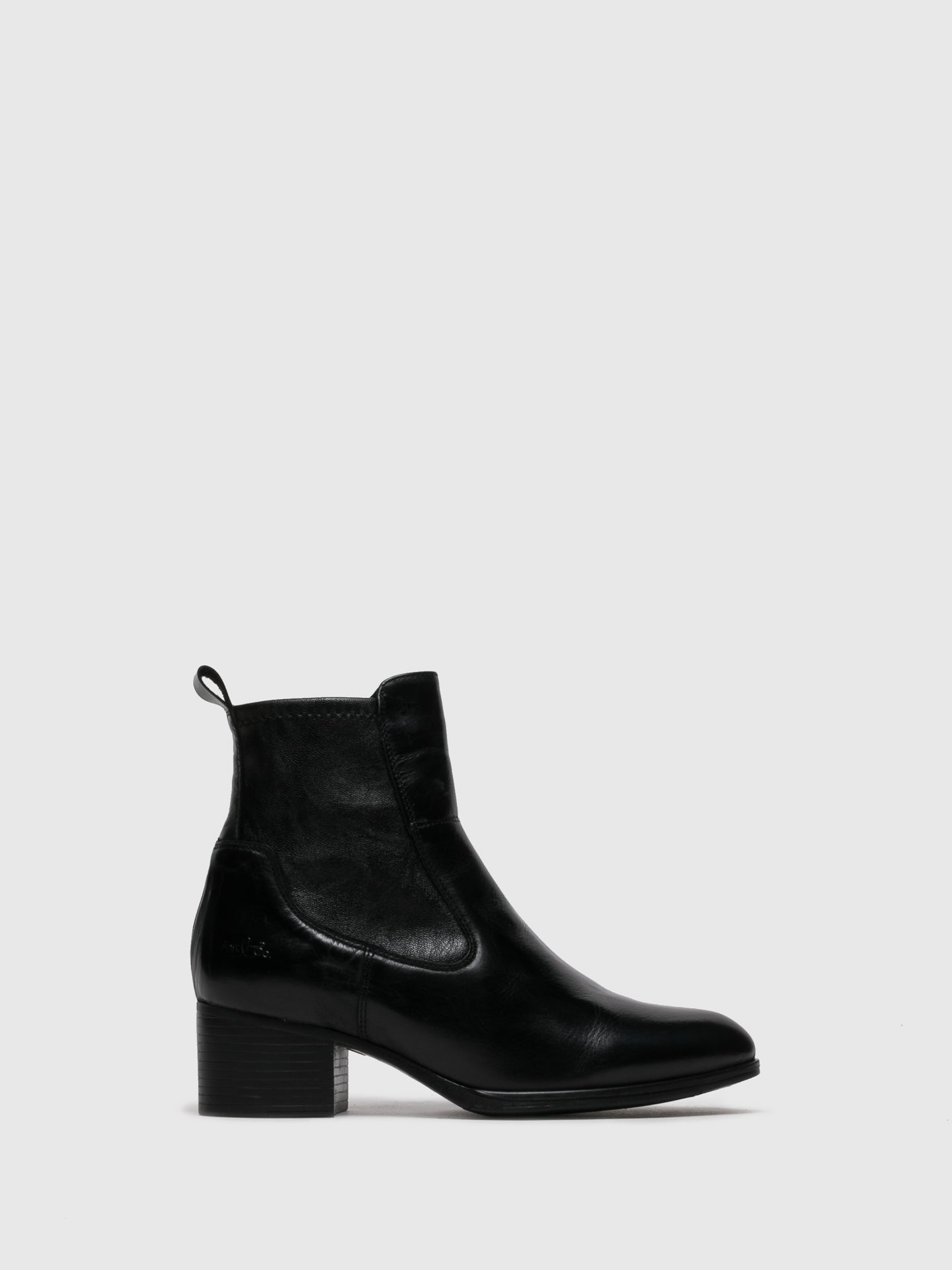 Bos&Co Black Pointed Toe Ankle Boots