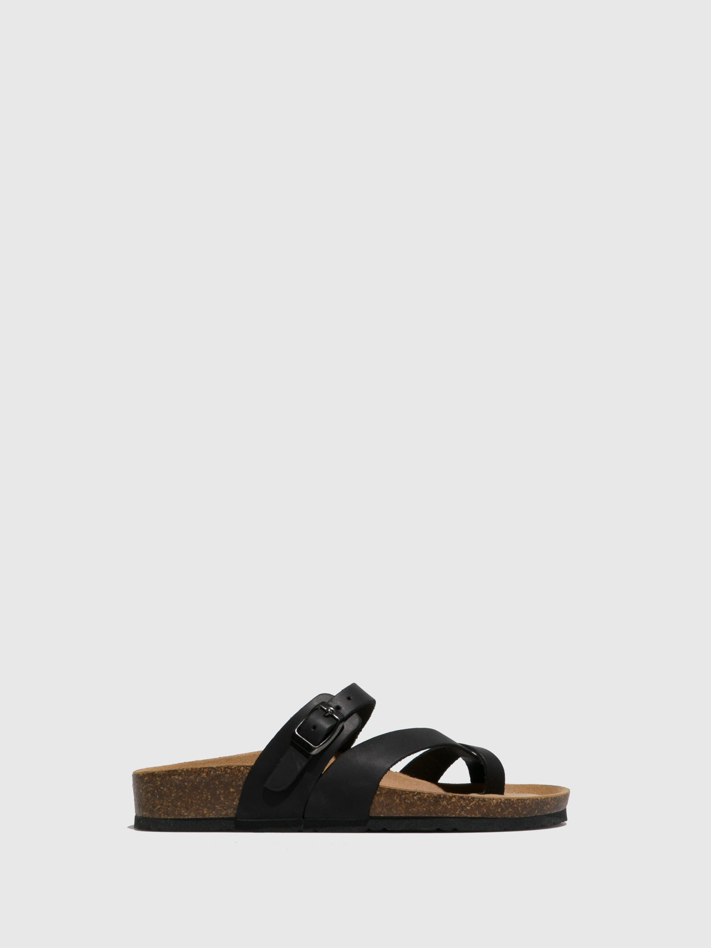 Bos&Co Black Thong Sandals