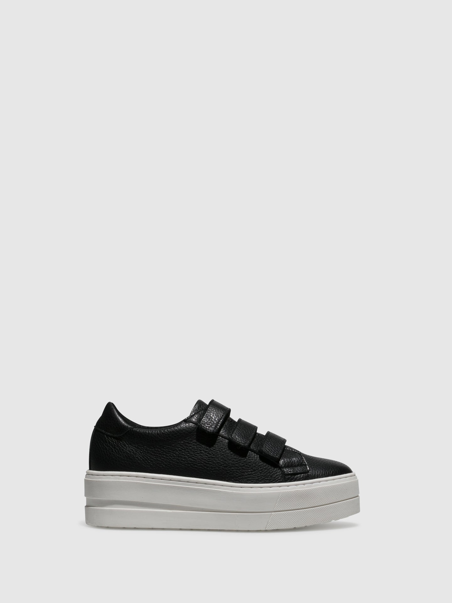 Bos&Co Black Velcro Trainers