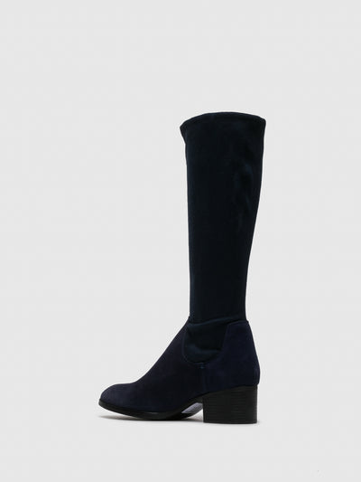 Bos&Co Blue Knee-High Boots