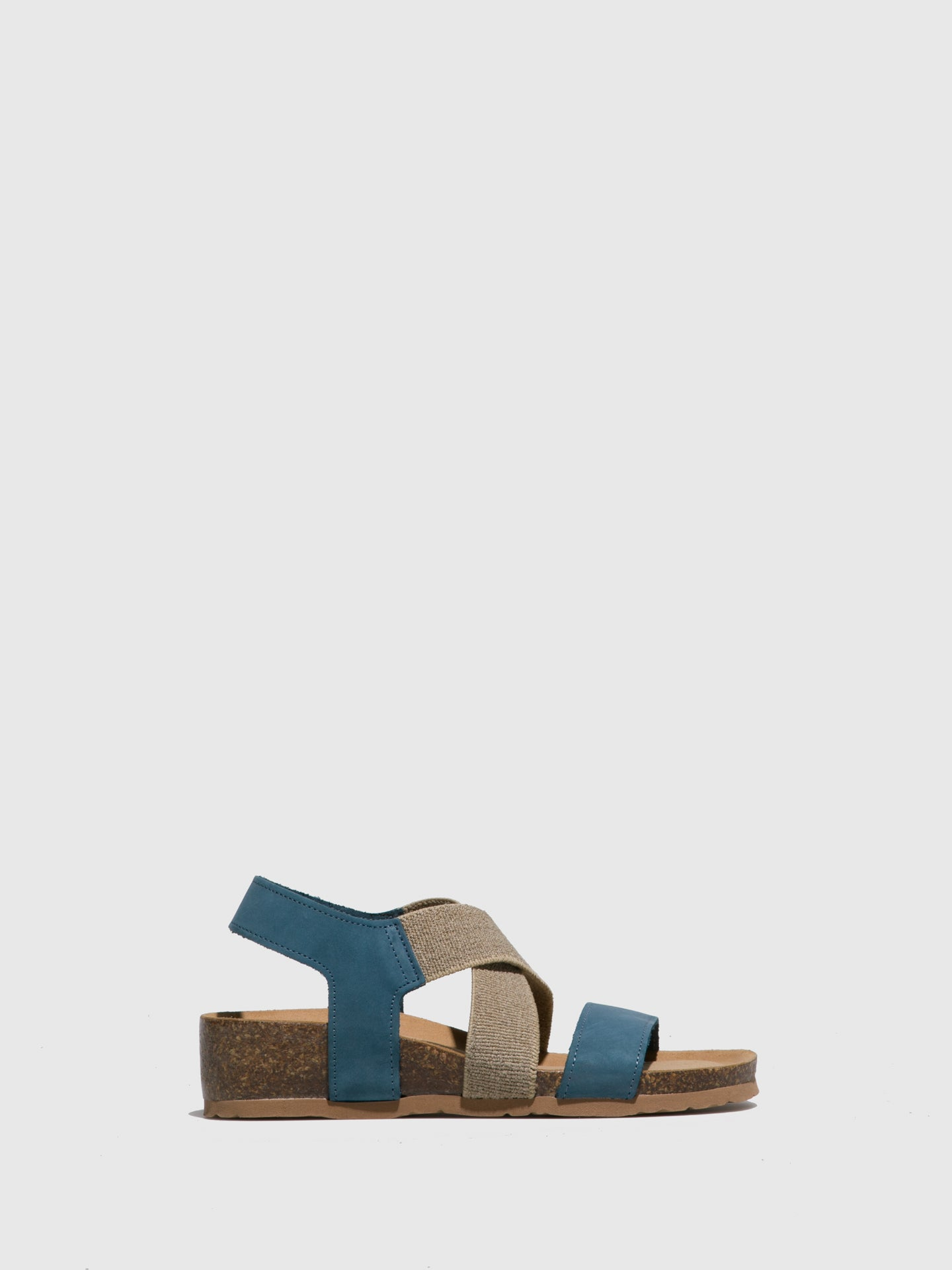 Bos&Co Blue Crossover Sandals