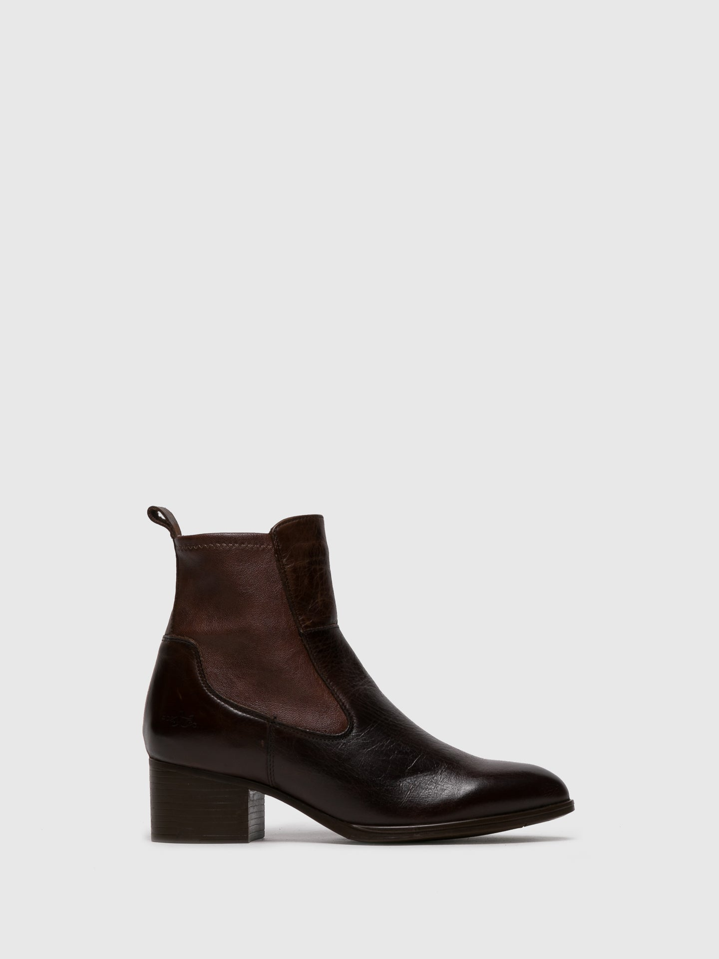 Bos&Co Brown Pointed Toe Ankle Boots