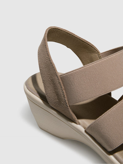 Bos&Co Wheat Sling-Back Sandals