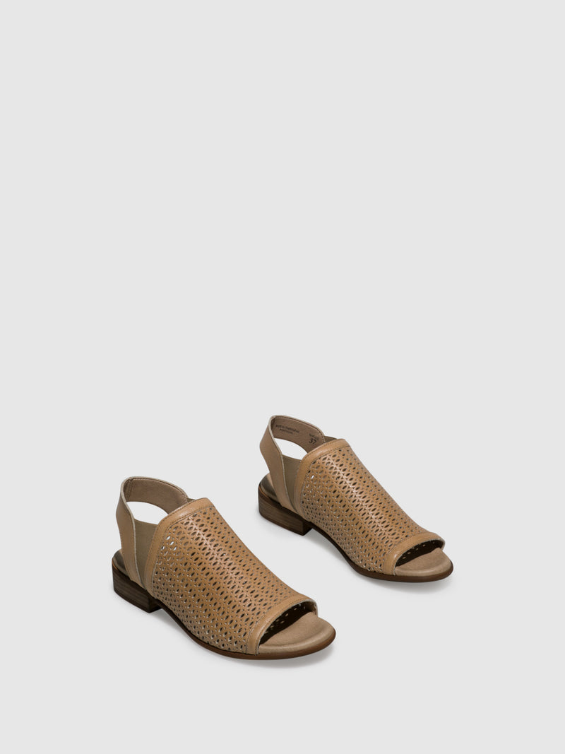 Wheat Sling-Back Sandals