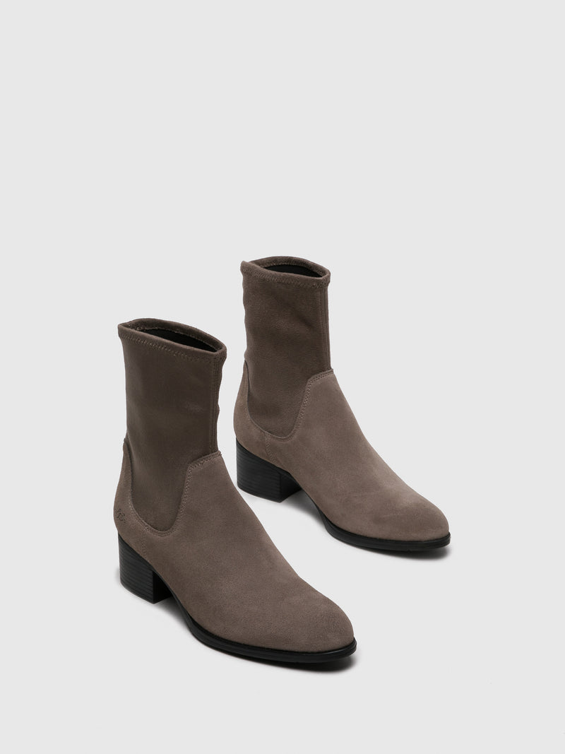 Bos&Co Gray Sock Ankle Boots