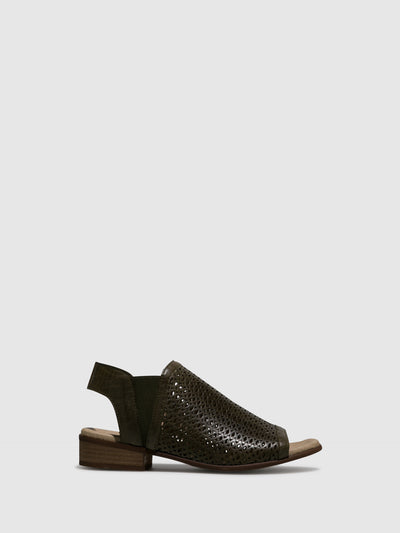 Bos&Co Khaki Sling-Back Sandals