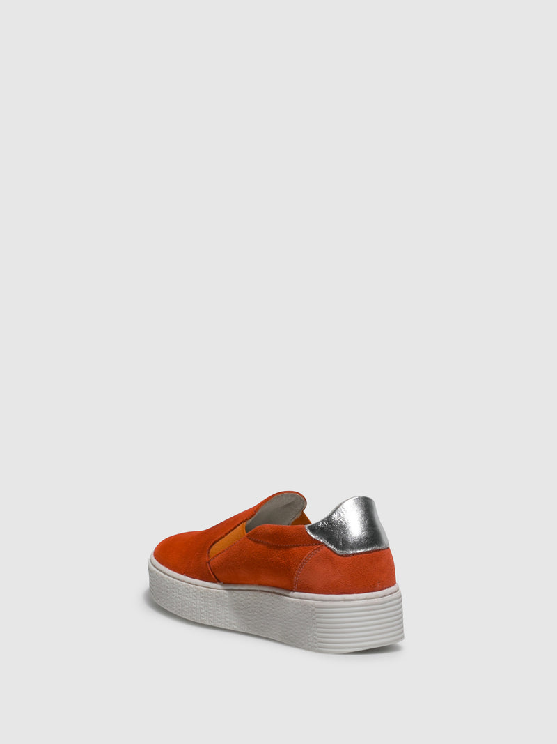 Orange Slip-on Trainers