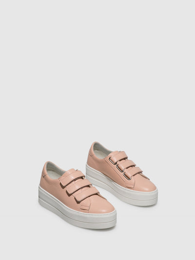Bos&Co LightPink Velcro Trainers