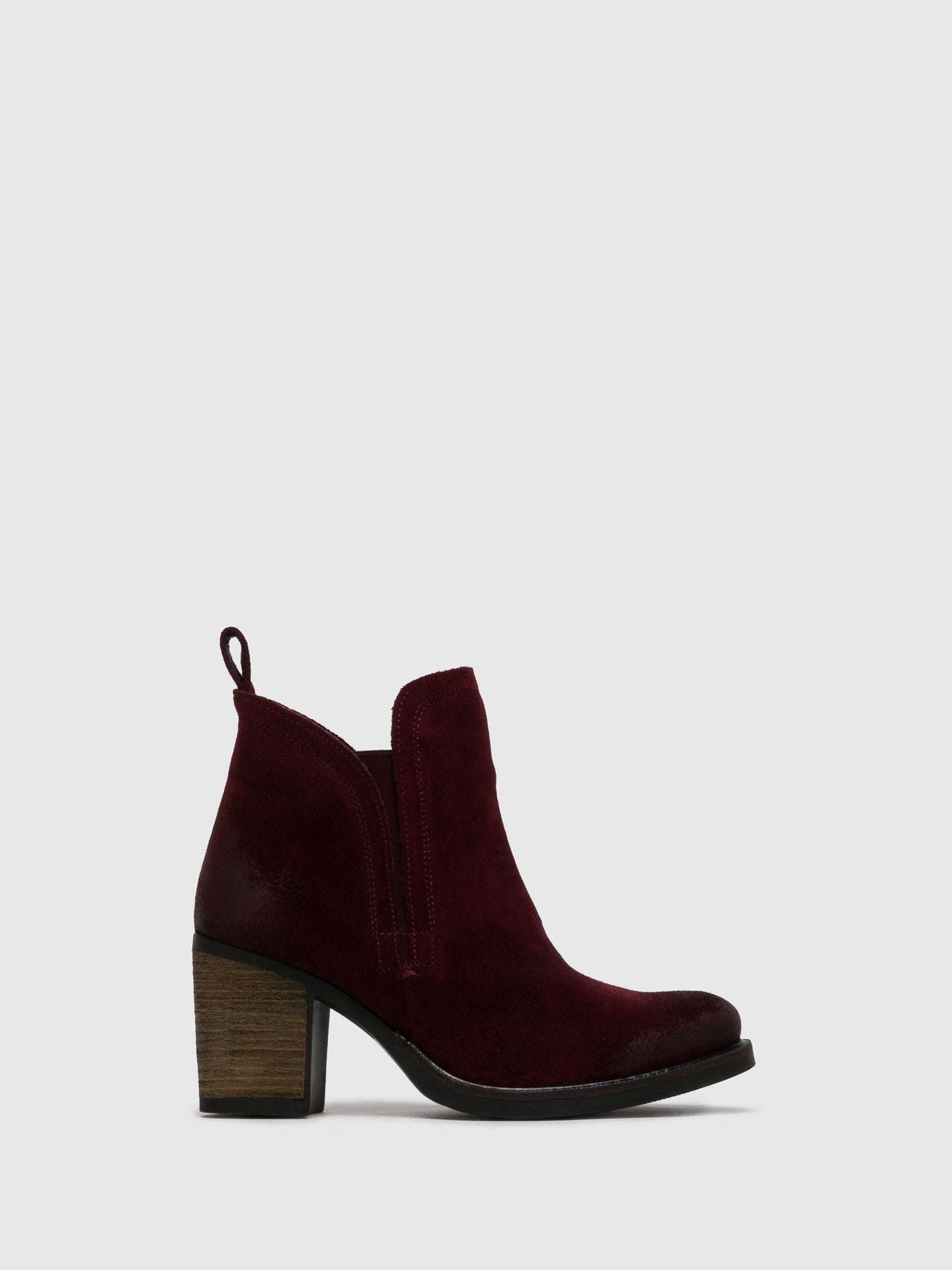Bos&Co DarkRed Round Toe Ankle Boots