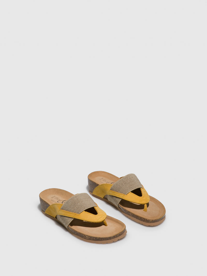 Bos&Co Yellow Thong Flip-Flops