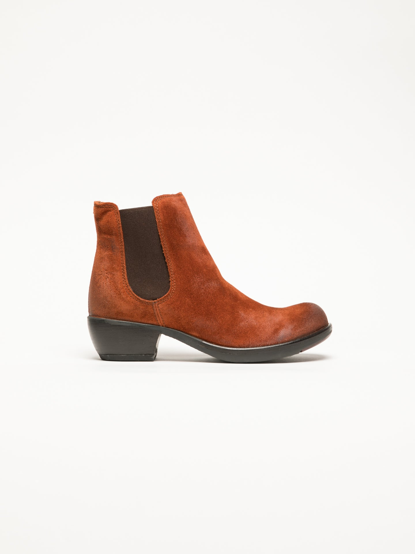 Fly London Orange Chelsea Ankle Boots