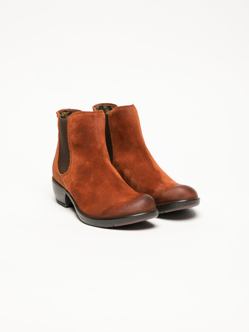 Orange Chelsea Ankle Boots