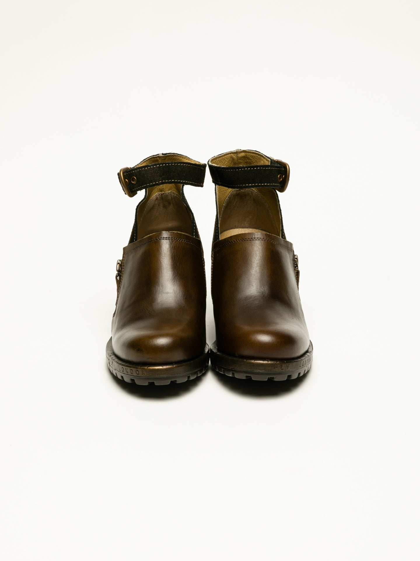 Fly London Brown Monk Shoes