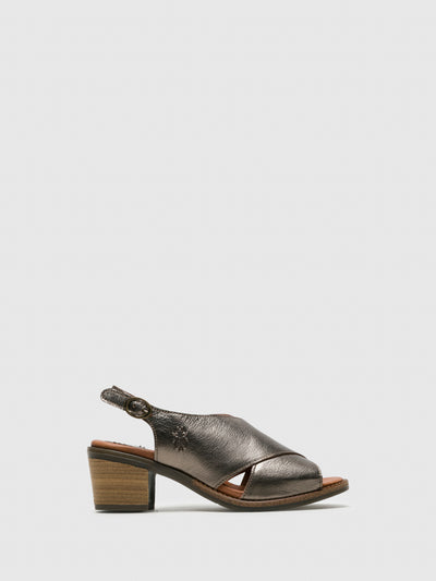 Fly London SandyBrown Sling-Back Sandals