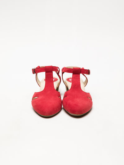 Fly London Red T-Strap Sandals