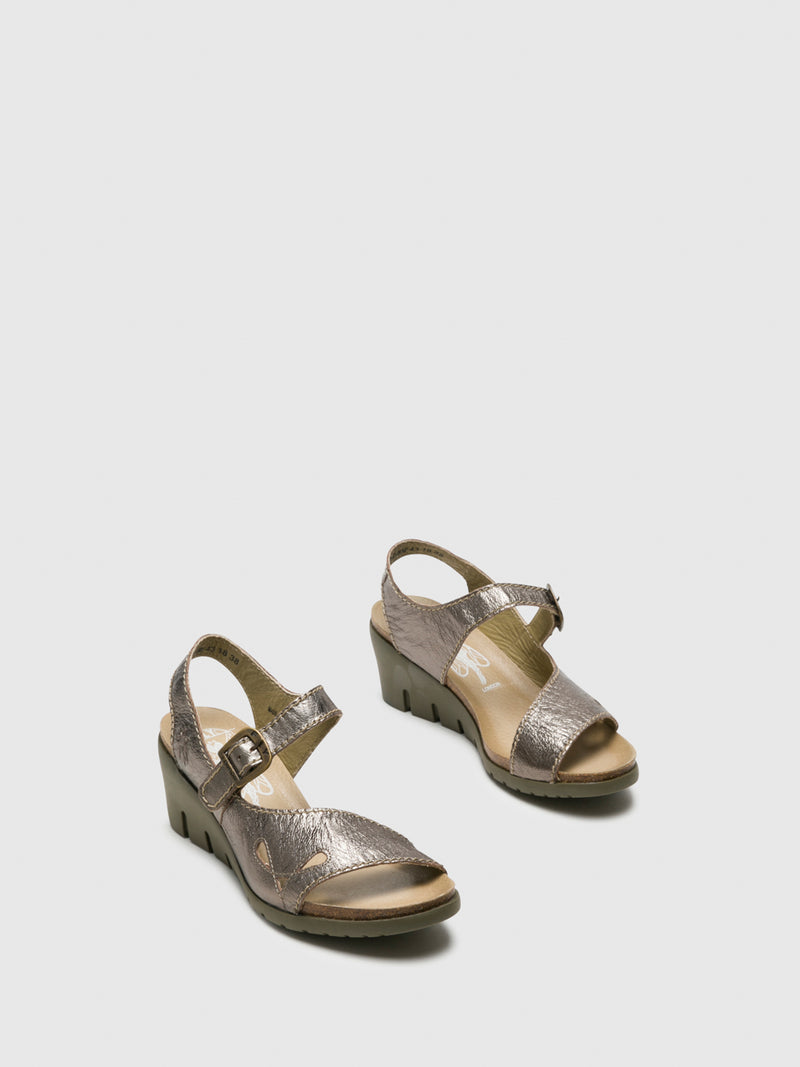 SandyBrown Buckle Sandals