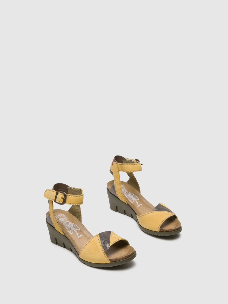 Yellow Ankle Strap Sandals
